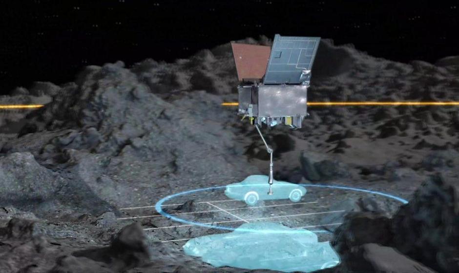 نمونه برداری کاوشگر ناسا از یک سیارک در ۳۳۰ میلیون کیلومتری زمین