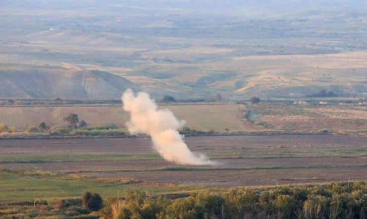 امروز ۷۱ گلوله راکت جنگ قره باغ به شهرستان مرزی خداآفرین در ایران برخورد کرد! از سمت جمهوری آذربایجان؟