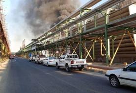 آتشسوزی در یکی از واحدهای پتروشیمی بندر امام