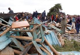 مرگ ۱۸ تندر حادثه ریزش ساختماندر غنا