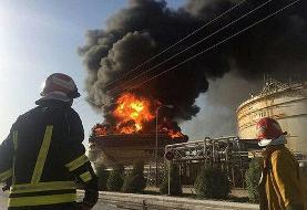 ببینید | انفجار و آتشسوزی بزرگ در پتروشیمی بندرامام