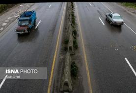 بارش باران در برخی از جادههای ۷ استان کشور