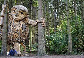 تشویق به طبیعتگردی با مجسمههایی از جنس مواد بازیافتی (+عکس)