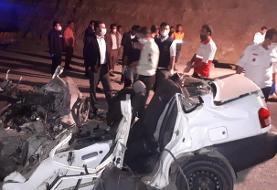 تصادف مرگبار در جاده داریون - شیراز / ۸ نفر کشته و مصدوم شدند