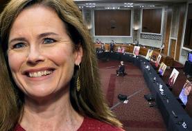 Republicans advance Amy Coney Barrett nomination; Democrats stay away