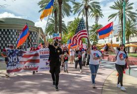 Armenian-Americans march in Miami Beach to condemn Azerbaijan, demand Artsakh liberty