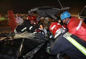 ببینید | تصادف زنجیرهای و خونین ۱۱ خودرو در جاده مشهد به گلبهار