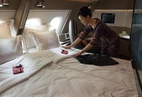 (تصاویر) ابتکار شرکت هواپیمایی برای فرار از ضرر و زیان کرونا