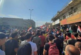 درگیری معدود تجمع کنندگان میدان تحریر بغداد با نیروهای امنیتی