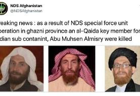 Afghan security forces kill senior al Qaeda leader al-Masri
