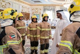 (تصویر) اولین زنان آتش نشان در امارات