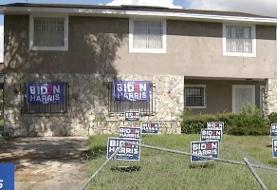 A Florida man drove a stolen bulldozer through a neighborhood and destroyed Biden-Harris ...
