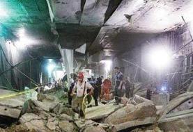 مرگ ۳ کارگر بر اثر سقوط بالابر در مترو تهران