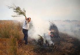آتشسوزی در مراتع روستای «قازانکندی» تکاب مهار شد