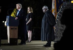 (تصاویر) ادای سوگند قاضی دیوان عالی آمریکا در حضور ترامپ