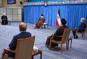 پیام حمایت قاطع رهبر انقلاب از روحانی و دولتش