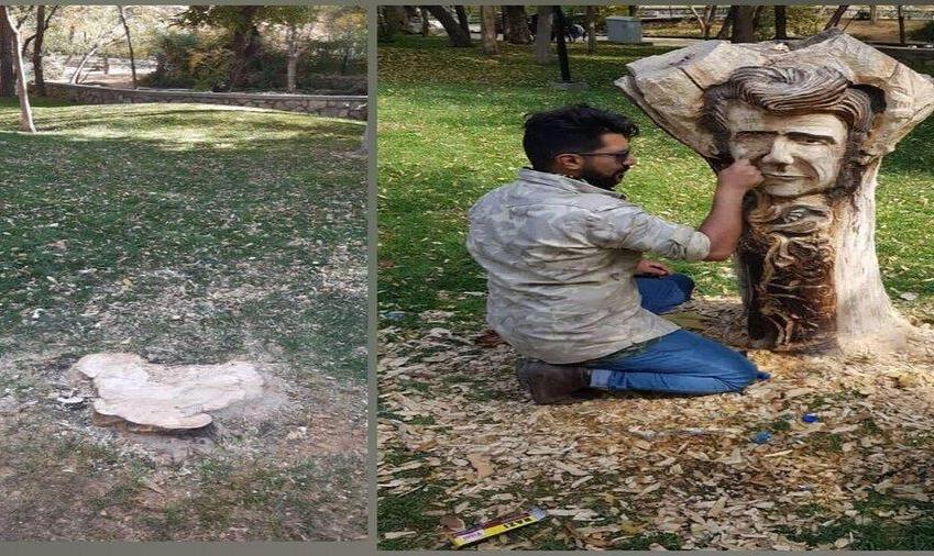 تندیس جنجالی شجریان در پارک ملت مشهد بریده و ناپدید شد!