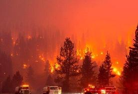 ببینید | این جلوه ویژه سینمایی نیست؛ آتشسوزی مهیب در کالیفرنیا است!
