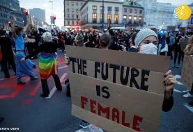(تصاویر) تظاهرات سراسری در لهستان علیه ممنوعیت سقط جنین