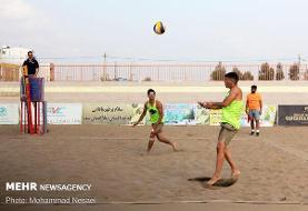 مسابقات تور ملی دوستاره والیبال ساحلی کشور در بندرترکمن