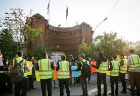 برگزاری تجمع مقابل سفارت فرانسه در تهران