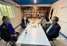 جلسه مددی و خلیلزاده با فکری /عکس