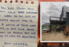 Firefighters save cabin from wildfire and leave note for owner