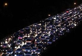 ترافیک سنگین در محور چالوس – کرج