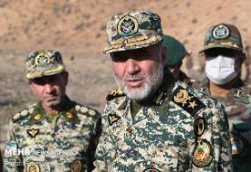 بازدید فرمانده نیروی زمینی ارتش از مناطق مرزی جلفا و خداآفرین