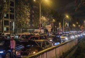 ترافیک شدید ساعتی پیش از اعمال قرنطینه سراسری در فرانسه