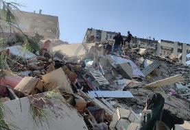 ویدئو | سونامی در شهرهای ساحلی بعد از زلزله ازمیر ترکیه