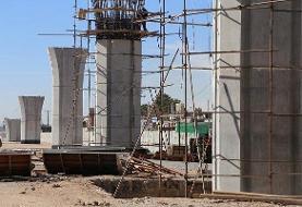پیشرفت قابل ملاحظه عملیات اجرایی در پلهای تقاطع ثامن