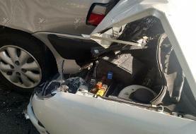 تصاویر | تصادف شدید دروازه بان سایپا