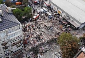 ویدئو | مواجهه عجیب یک مرد با زلزله شدید روز گذشته در ازمیر ترکیه