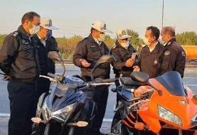 توقیف ۴ موتورسنگین لاییکش در بزرگراههای پایتخت