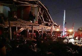 فیلم | ۲ مجروح در حادثه انفجار گاز منزل مسکونی در قائمشهر