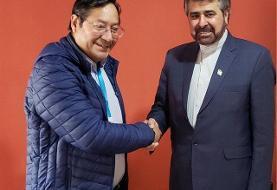 بررسی توسعه همکاریهادر دیدار سفیر ایران با رییس جمهور منتخب بولیوی