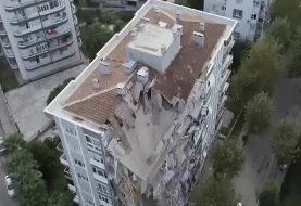 ببینید | تصاویر تکاندهنده هوایی از ویرانههای زلزله مهیب ترکیه