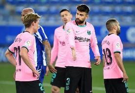 ادامه ناکامیهای بارسلونا در لالیگا