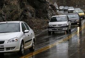 برف و باران در جادههای ۱۰ استان کشور