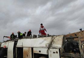 جزییات واژگونی اتوبوس کارکنان پالایشگاه نفت + عکس