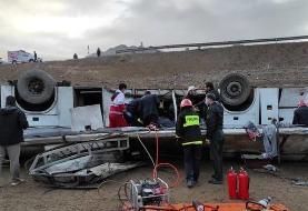 ۴ کشته و ۱۷ مصدوم بر اثر واژگونی سرویس کارکنان پالایشگاه اصفهان