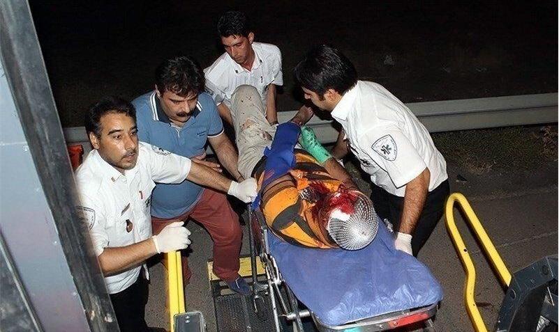 تصادف زنجیرهای سه اتوبوس با نیسان در جنوب تهران: ۱۷ نفر مصدوم شدند