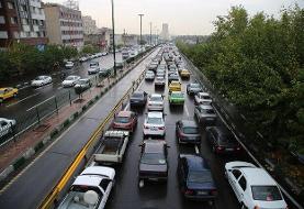 وضعیت ترافیکی معابر تهران در اولین روز آذر