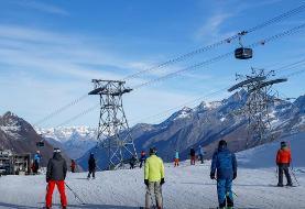کرونا؛ شلوغی پیست اسکی در سوئیس (+عکس)