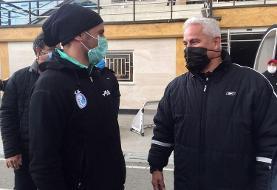 (تصویر) آقای گل پرسپولیسیها در تمرین استقلال