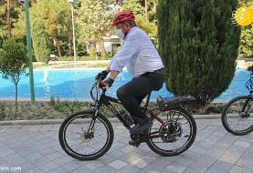 (تصاویر) گزارش رسانه خارجی از دوچرخه سواری در تهران