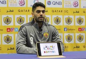 علی کریمی: از حضور در قطر راضی و خوشحال هستم