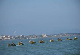 رژه شناوری مردمی بسیج دریایی نیروی زمینی سپاه برگزار شد