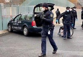 ویدئو | حمله با خودرو بهساختمان صدراعظمی آلمان